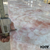 Decorative acrylic solid surface translucent faux alabaster sheet