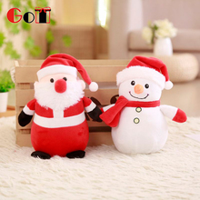 Wholesale Christmas Promotional Cartoon Plush Toys Soft Stuffed Toys For Decoration