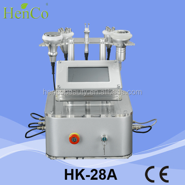 5Mhz multipolar RF 40Khz Cavitation ultrasonic liposuction Vacuum massager beauty equipment Henco Beauty