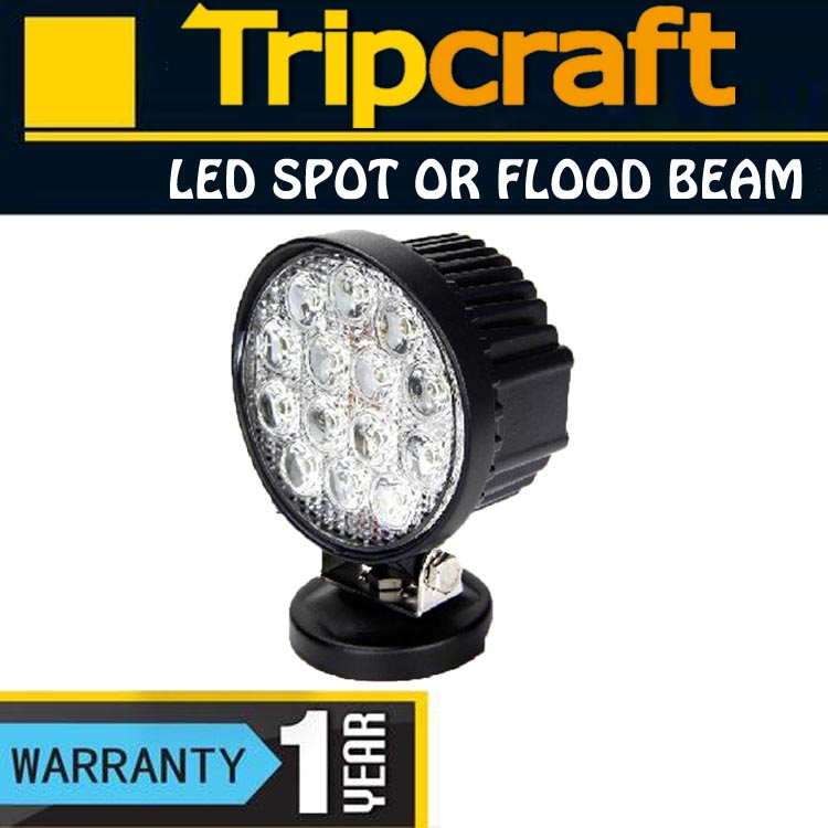 12V 24V Marine Motorcycle Agriculture Machinery Auto Lights Promotion 42W LED Work Lights from Tripcraft