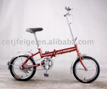 "16""steel beautiful folding bicycle"
