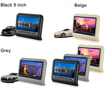 "9"" Inch Digital Panel Active Detachable Car Backseat Headrest DVD Player With IR FM Game Speakers"