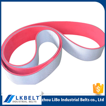 Wholesale Price portable custom flat used belt conveyor with red rubber cover