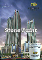 CRYSTONE Natural stone paint for real estate and 15 years guarantee water based building coating