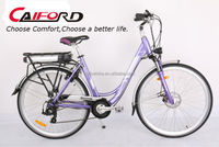 Purple city style lady ebike