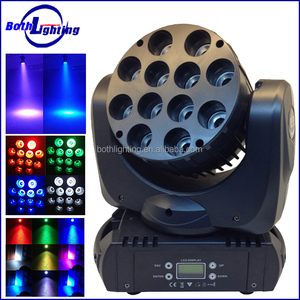 Super quality night club lighting led wash beam light 12x10W RGBW 4-in-1 led moving head