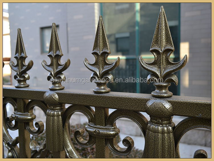 Decorative cast aluminum/ iron metal balcony safety fence panels
