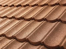 Splendid synthetic terracotta stone coated metal roof tile