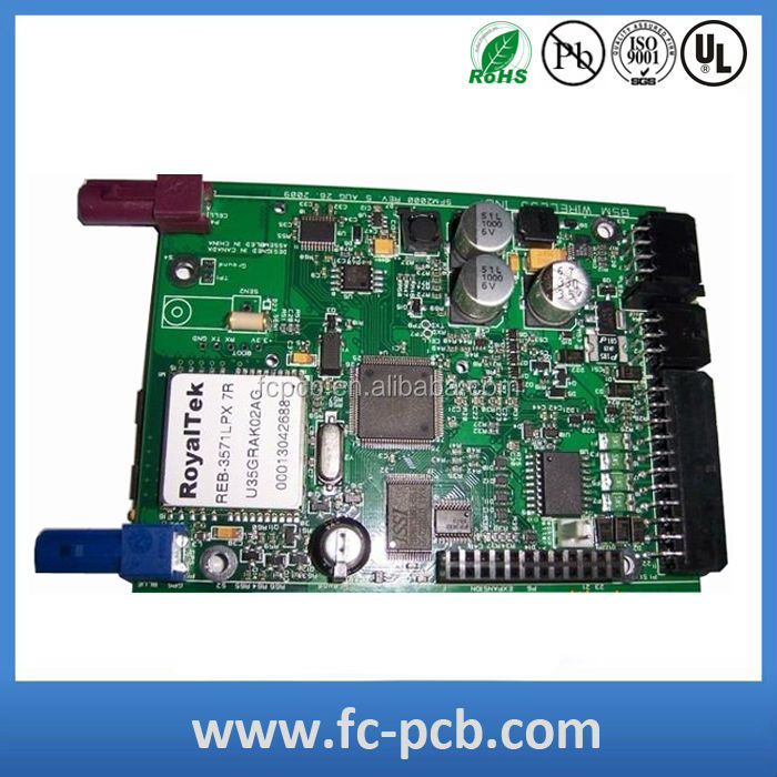 Teflon/FR4 multilayer PCB assembly prototype