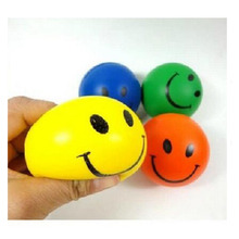 2017 Hot sale wholesale Logo Customized light bulb stress ball with smile