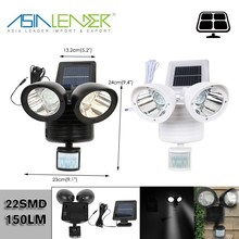 22SMD 150LM LED Solar Powered Security Lights with Motion Sensor