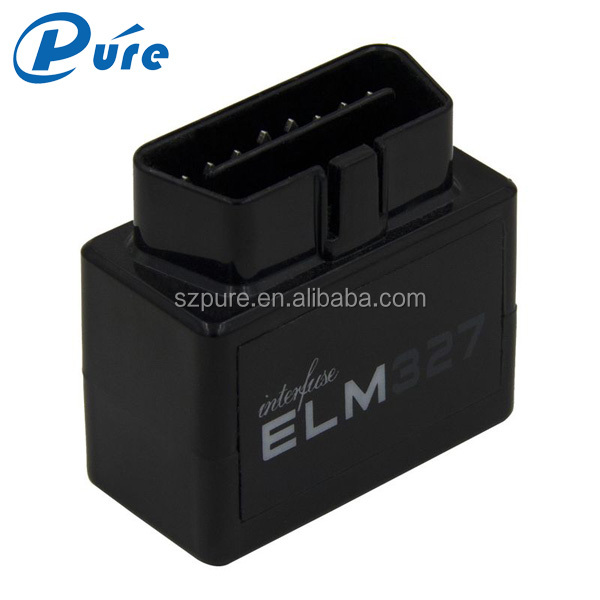 Professional Supper Mini OBD2 ELM327 Plastic Scanner Software v2.1 Bluetooth ELM327