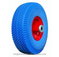 "10"" Flat Free Tubless Tires Wheel for Handtruck Dolly Go Kart Wagon Hand Truck"
