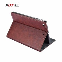 XOOMZ PU leather Stand Flip Cover Case for Apple iPad 1 2 3 Custom logo