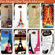 painting phone back cover Eiffel Tower diy case for Alcatel One Touch Idol Mini 6012 6012A 6012X 6012W