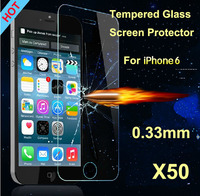 2014 new arrival Explosion Proof 0.33mm Premium Tempered Glass Screen Protector Protective Film For iPhone 6 Air