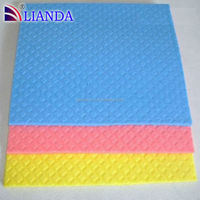 Super absorbent 4mm thickness kitchen cellulose sponge cloth used in kitchen