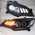 For HONDA for Fit Jazz Head Lamp 2015 year Black Housing JC