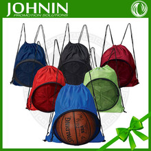 75D polyester customized promotional cheap wholesale basketball drawstring bag