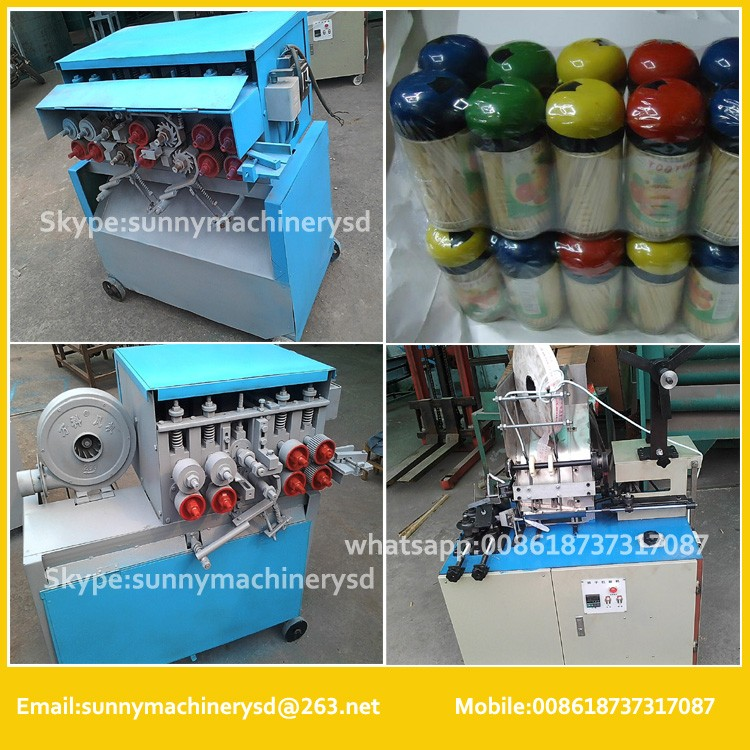 complete production set Bamboo skewer making machine