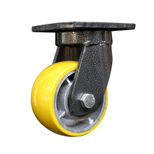 Wholesale price all size top plate swiveling heavy duty PU casters
