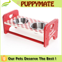 double dog stainless steel dog bowl/ dog feeder/ pet products in dog store