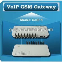 Providing 8 port GSM VoIP Gateway,soft switch,GoIP 8