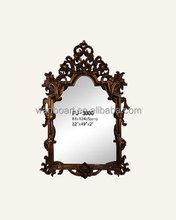 3006 beautiful hand carved antique golden color wood picture frame