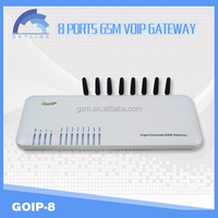 Best seller voip GOIP 8 port gsm gateway/unlimited india calling voip