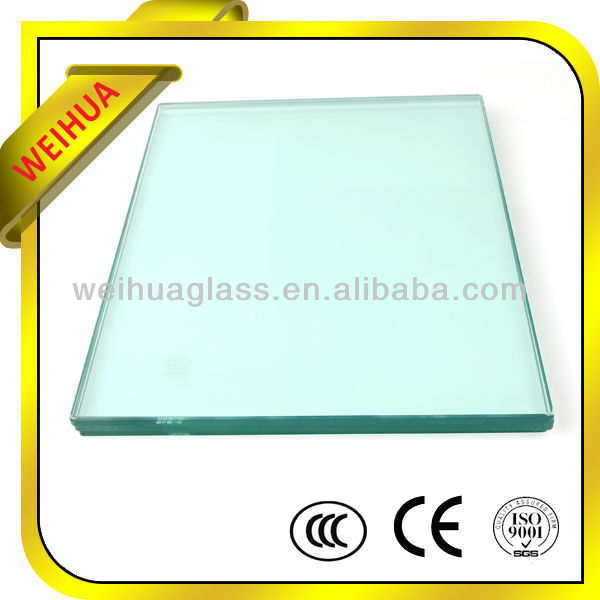 Decorative cracked tempered glass