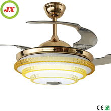 Popular Style Zhongshan Lighting 36W Led Silent Fan Copper Motor Modern Ceiling Lamp Fan With Light Remote Control