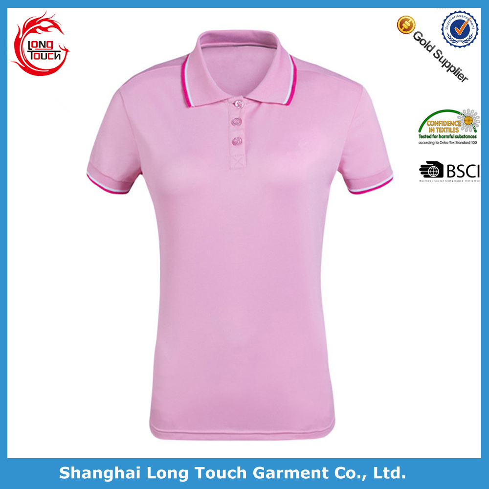 Wholesale 100 polyester polo t shirt for women buy for Where to buy polo shirts cheap
