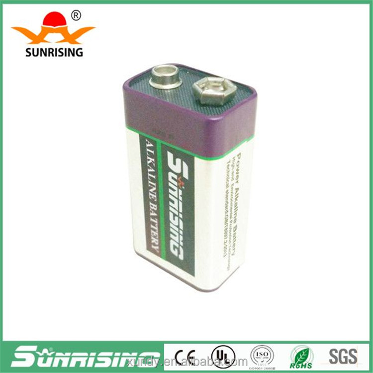 Super power 9V alkaline battery made in china