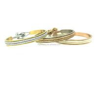 Hair Tie Bracelet Cuff Bangle In Gold Stainless Steel, Bridesmaid Gifts Wedding Bracelet, Metal Hair Tie bangle