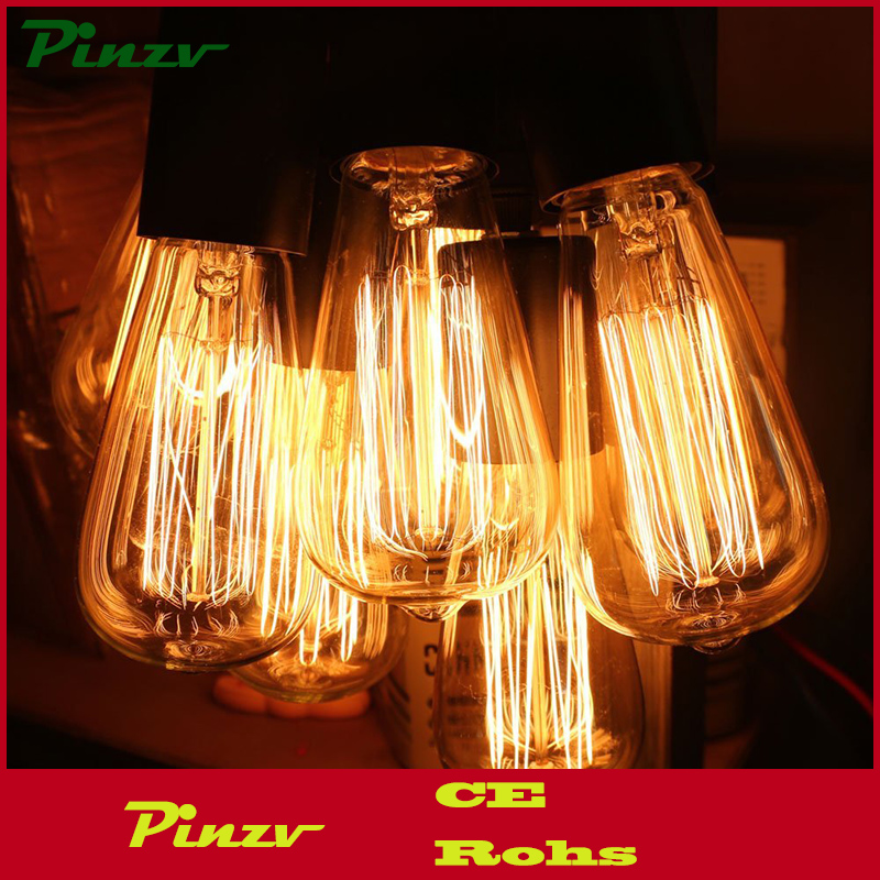 Edison light bulb - 6 Pack - The Capital - 60 Watt Bulb - Choose from many other designs. Inspired by Thomas Edison these incand