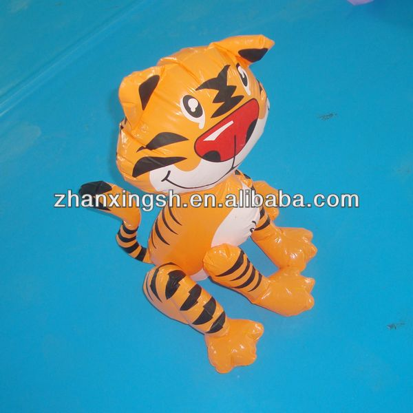 2014 shanghai zhanxing hot sale pvc cheap inflatable house tiger toy for kids in good price