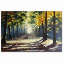 Decorative easy natural landscape village scenery wall art oil painting canvas