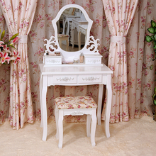 White Vanity Set Make Up Table W/ Shield Mirror / white dressing table with swing mirror bedroom furniture