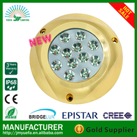 120W RGB Surface Mount Bronze Underwater Boat Marine LED Light