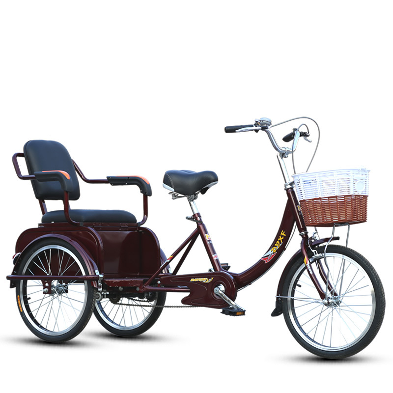 China wholesale tricycle for 2 adults,tandem tricycle for adults, cheap cheap adult tricycle for sale