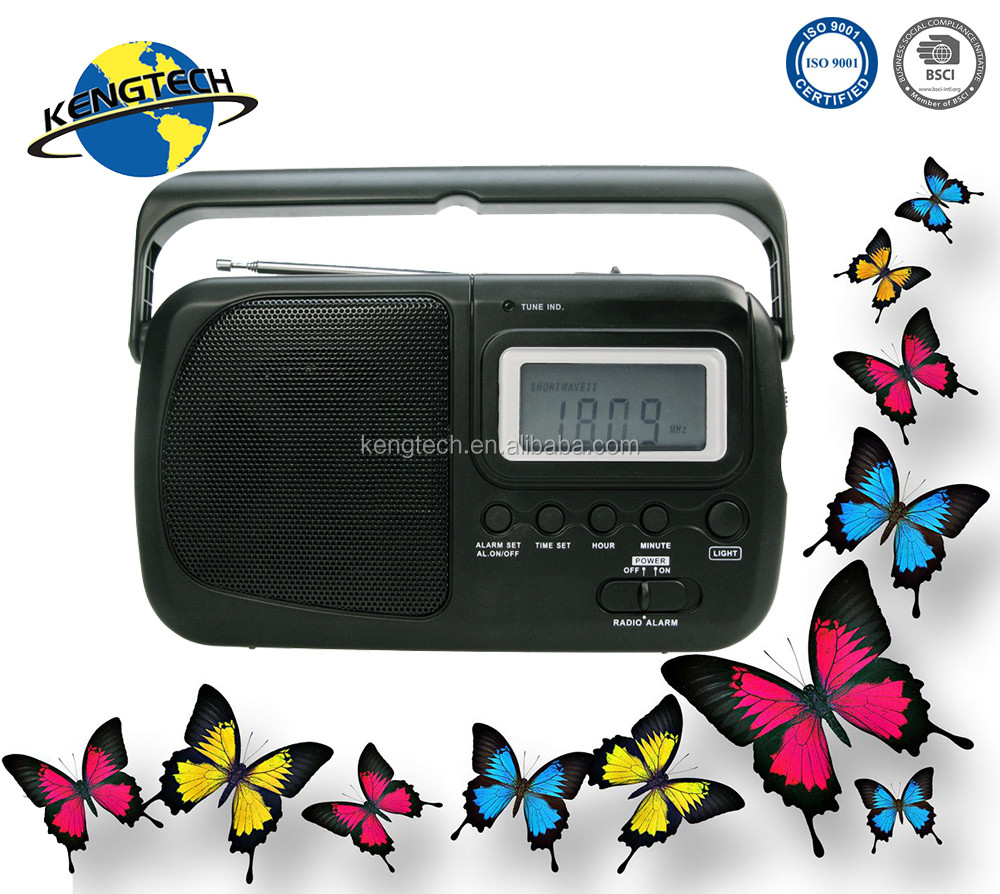 Portable AM FM Radio with Digital Clock Best Sale Multi band cheap manufacturer CT-2415