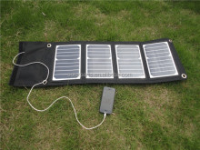 china factory 18W solar fabric folding solar panel for charging electrical equipment battery