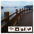 European style beatiful wpc garden fence MADE IN CHINA pergola flooring and fence