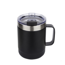Powder Coated Double Wall Stainless Steel Insulated Vacuum Travel Mug Tumbler Cups With Handle