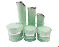 Hot sale Luxury acrylic cosmetic airless bottles and cream jars sets
