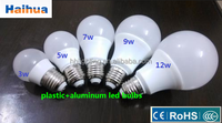 PC PBT 12w e27 b22 led global bulb lamps led aluminum led bulb lightings