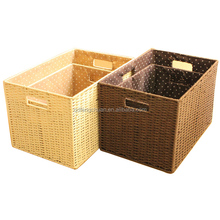 China supplier Cheap Handmade paper string storage basket
