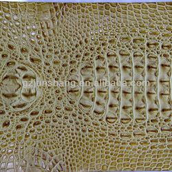 2014 hot sell snake skin PU leather with crocodile emboss