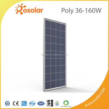 A Grade Best Quality Poly panels,36 cells 160W silver polycrystalline solar panels price good With TUV CE Certification