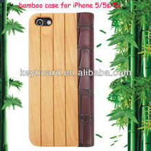 New arrival factory wholesale bamboo mobile phone case for iphone5/5s/5c